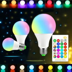 10W E27 RGB Smart Dimmable LED Light Bulb Color Change Lamp