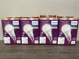 4 Pack Philips Light Bulb Soft White LED Dimmable Smart Wire