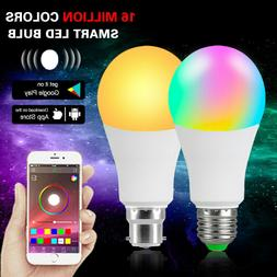 APP Bluetooth Smart LED Light Bulb Dimmable 15/20W RGB Lamp