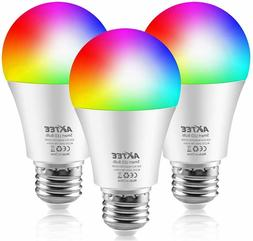 AXTEE Smart Light Bulb 2.4G, WiFi LED RGBCW Color Changing B