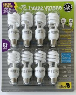Energy Smart GE CFL Soft White 13 Watts Bulbs Package Of 8