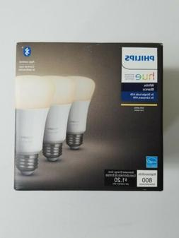 Philips Hue 3rd Gen  60W A19 White 3 Pack Ambiance Bulb New