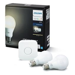 Philips Hue White A19 60W Equivalent Dimmable LED Smart Ligh