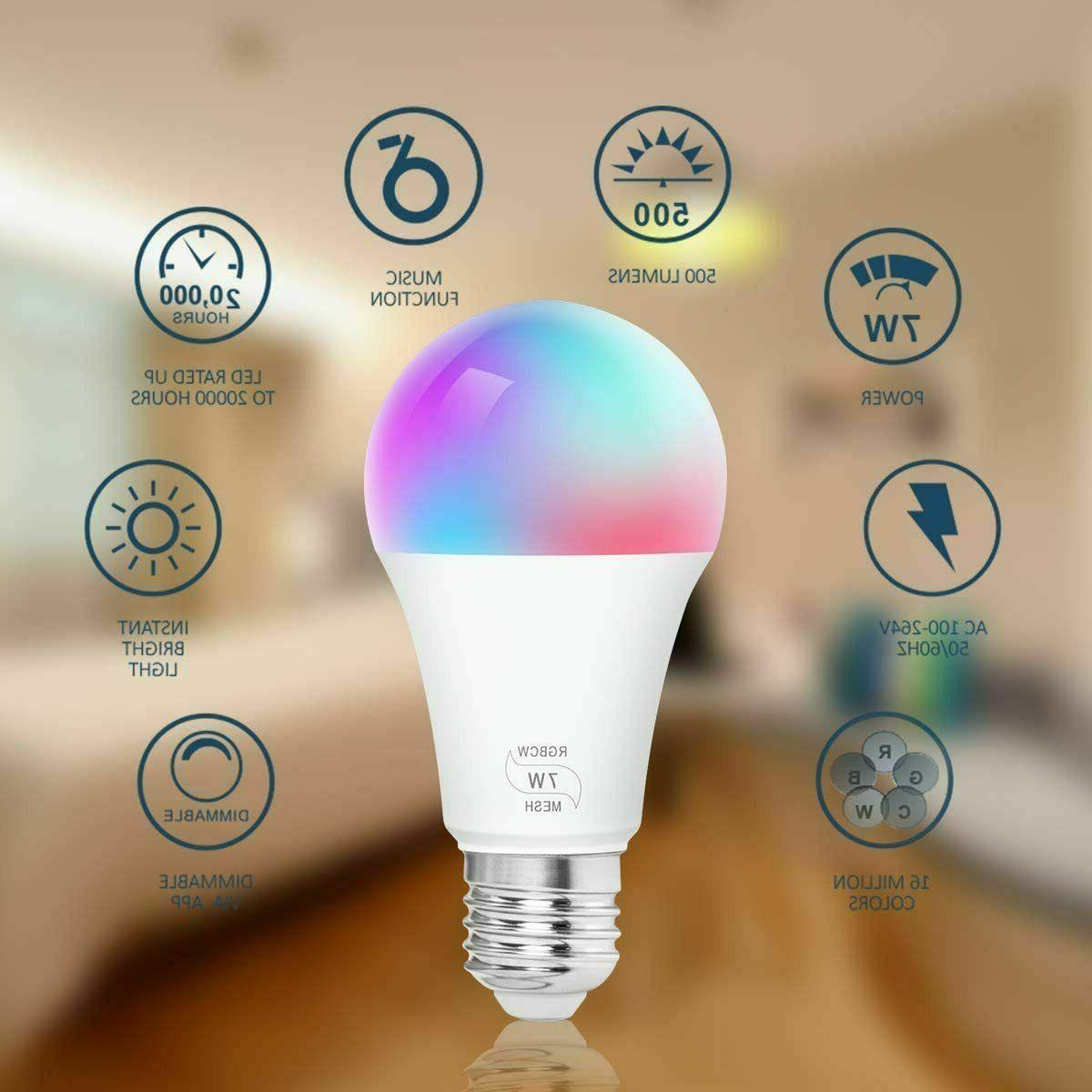 2Packs Bluetooth LED RGB Dimmable