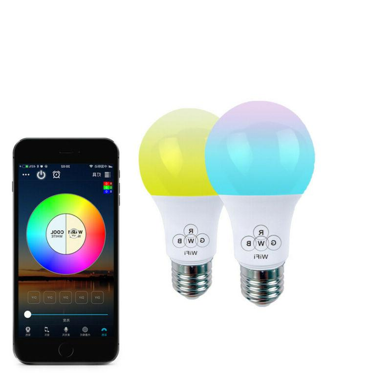 smart wifi light bulb led rgbcolor changing