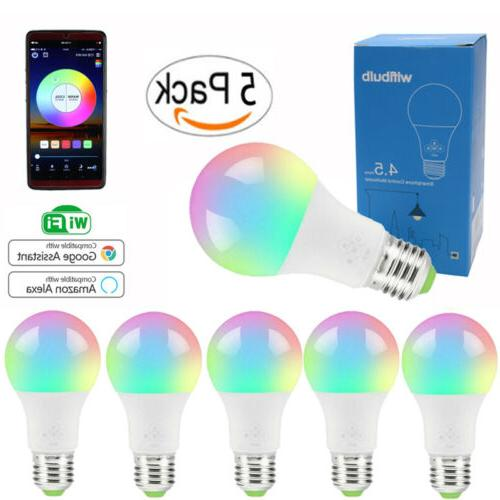 wifi smart light bulb dimmable switch led