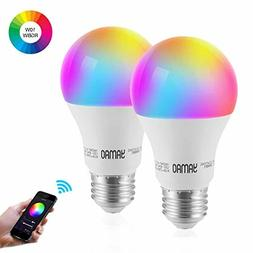 smart wifi light bulb rgbw color changing