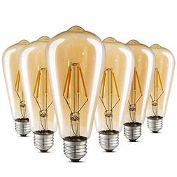Vintage Style LED Edison Bulb Dimmable Amber Warm Antique Fi