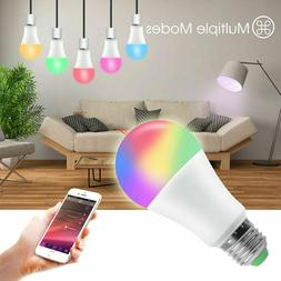 WiFi RGB Smart LED Light Bulb for Apps by iOS Android Amazon