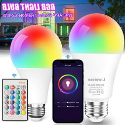 Wifi Smart Multi-Color LED Light Bulb RGB Dimmable For Amazo